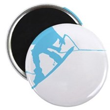 Blue Wakeboard Back Spin Magnet