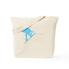 Blue Wakeboard Back Spin Tote Bag