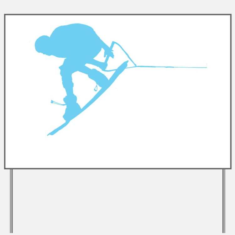 Blue Wakeboard Back Spin Yard Sign