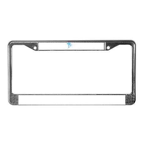Blue Wakeboard Back Spin License Plate Frame