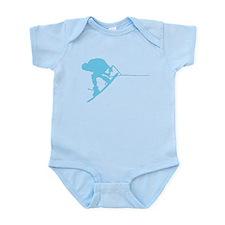 Blue Wakeboard Back Spin Infant Bodysuit
