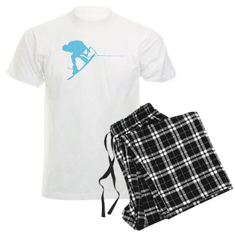 Blue Wakeboard Back Spin Men's Light Pajamas