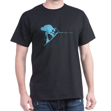 Blue Wakeboard Back Spin Dark T-Shirt