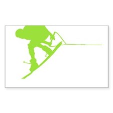 Green Wakeboard Back Spin Decal