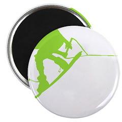 Green Wakeboard Back Spin Magnet