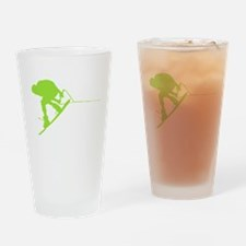 Green Wakeboard Back Spin Drinking Glass