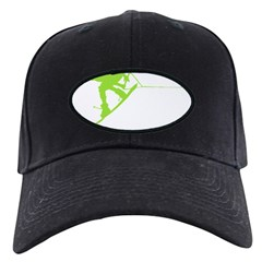 Green Wakeboard Back Spin Baseball Hat