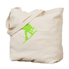 Green Wakeboard Back Spin Tote Bag