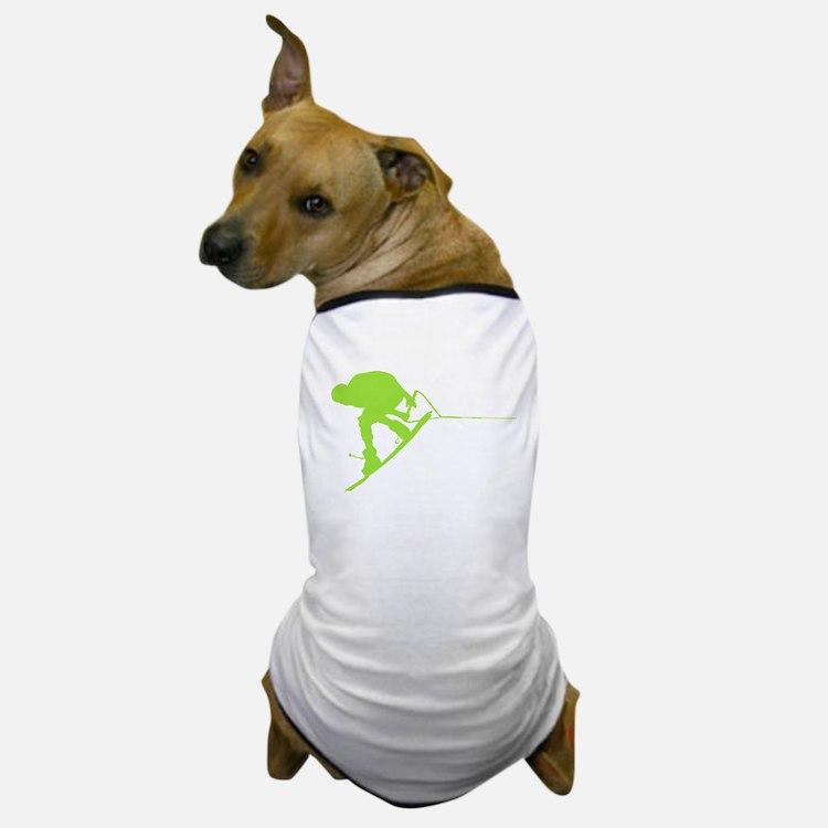 Green Wakeboard Back Spin Dog T-Shirt