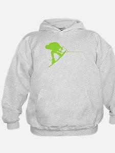 Green Wakeboard Back Spin Hoodie