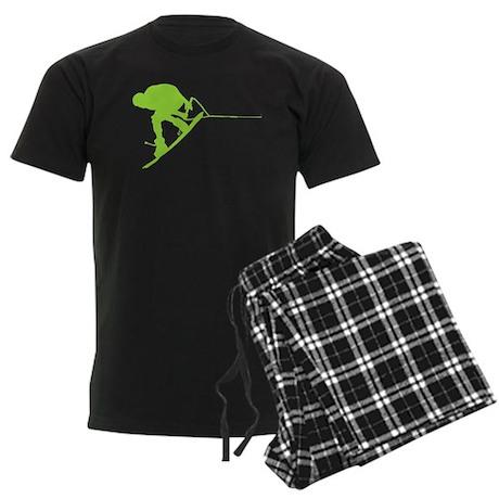 Green Wakeboard Back Spin Men's Dark Pajamas
