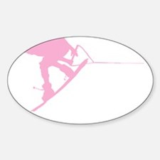 Pink Wakeboard Back Spin Sticker (Oval)