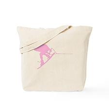 Pink Wakeboard Back Spin Tote Bag