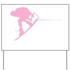 Pink Wakeboard Back Spin Yard Sign