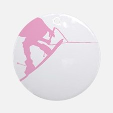 Pink Wakeboard Back Spin Ornament (Round)