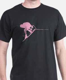 Pink Wakeboard Back Spin T-Shirt