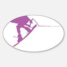 Pruple Wakeboard Back Spin Sticker (Oval)