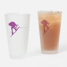 Pruple Wakeboard Back Spin Drinking Glass