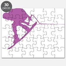 Pruple Wakeboard Back Spin Puzzle