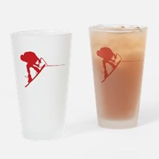 Red Wakeboard Back Spin Drinking Glass