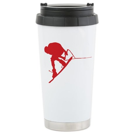 Red Wakeboard Back Spin Stainless Steel Travel Mug