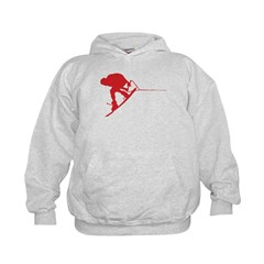 Red Wakeboard Back Spin Hoodie