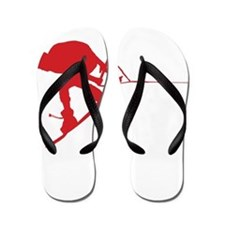 Red Wakeboard Back Spin Flip Flops