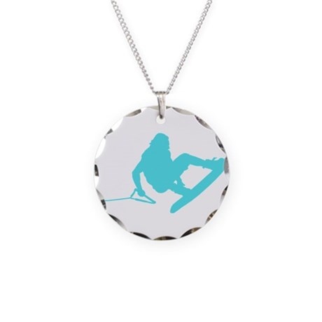 Blue Wakeboard 360 Handle Pas Necklace Circle Char