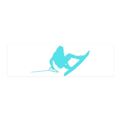 Blue Wakeboard 360 Handle Pas 21x7 Wall Peel
