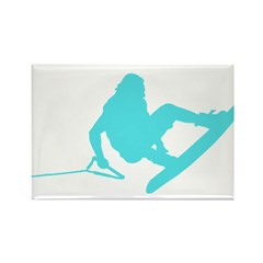 Blue Wakeboard 360 Handle Pas Rectangle Magnet (10