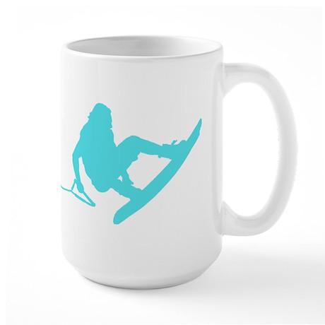 Blue Wakeboard 360 Handle Pas Large Mug