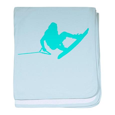 Blue Wakeboard 360 Handle Pas baby blanket