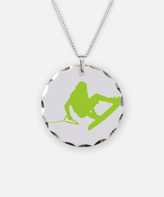 Green Wakeboard 360 Handle Pa Necklace