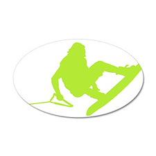 Green Wakeboard 360 Handle Pa 22x14 Oval Wall Peel