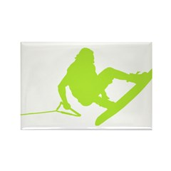 Green Wakeboard 360 Handle Pa Rectangle Magnet