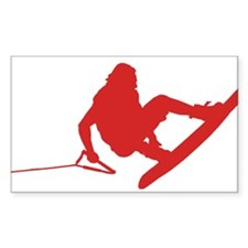 Red Wakeboard 360 Handle Pass Decal