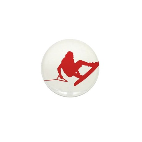 Red Wakeboard 360 Handle Pass Mini Button (100 pac