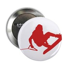 "Red Wakeboard 360 Handle Pass 2.25"" Button"