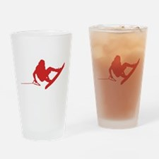 Red Wakeboard 360 Handle Pass Drinking Glass