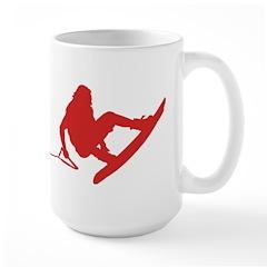 Red Wakeboard 360 Handle Pass Mug