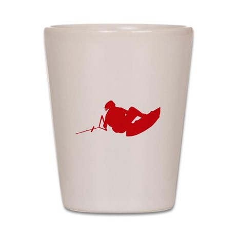Red Indy Tantrum Shot Glass