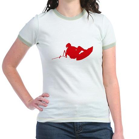 Red Indy Tantrum Jr. Ringer T-Shirt
