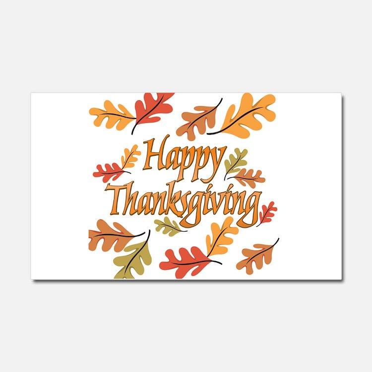 Happy Thanksgiving Car Magnet 20 x 12