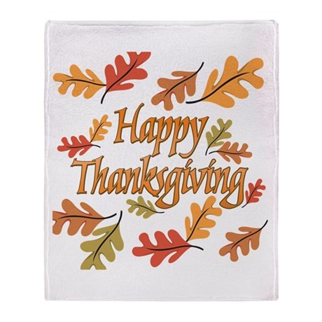 Happy Thanksgiving Throw Blanket