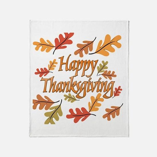 Happy Thanksgiving Throw Blanket