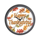 Thanksgiving Wall Clocks