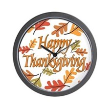 Happy Thanksgiving Wall Clock