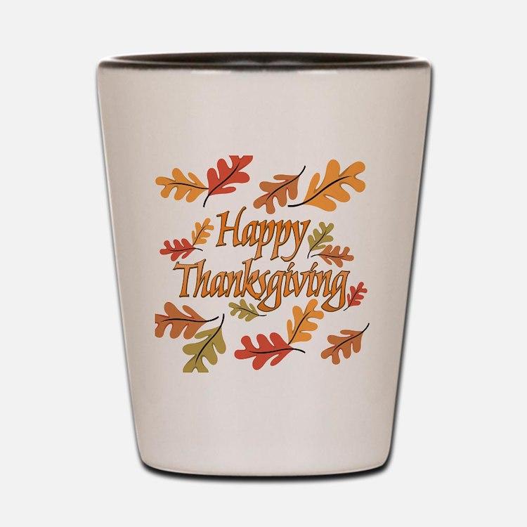 Happy Thanksgiving Shot Glass
