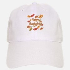 Happy Thanksgiving Baseball Baseball Cap