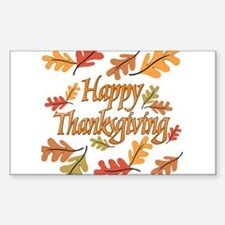 Happy Thanksgiving Sticker (Rectangle)